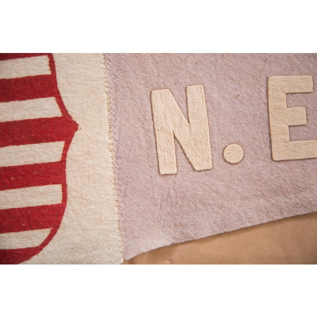 Americana Antique NE Fair Felt Flag Pennant For Sale - Image 3 of 5