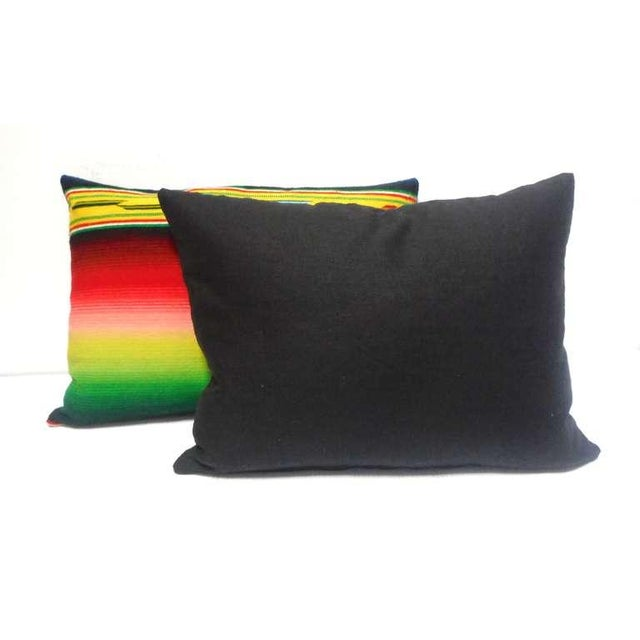 Mexican Indian Weaving, Serape Bolster Pillows For Sale - Image 4 of 4