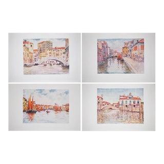 Original Lithographs of Venice by M. Menpes - Set of 4