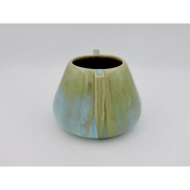 Vintage Fulper Pottery Arts & Crafts Double Handled Vase With Flambé Glaze For Sale In Los Angeles - Image 6 of 11