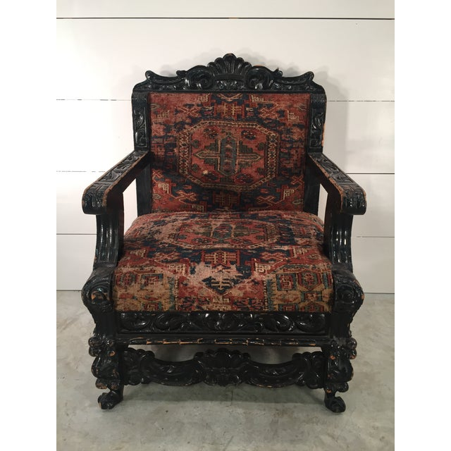 Antique Mexican Arm Chair - Image 7 of 7