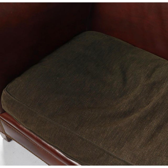 Brown Late 20th Century Ej Victor Leather Sofa For Sale - Image 8 of 13