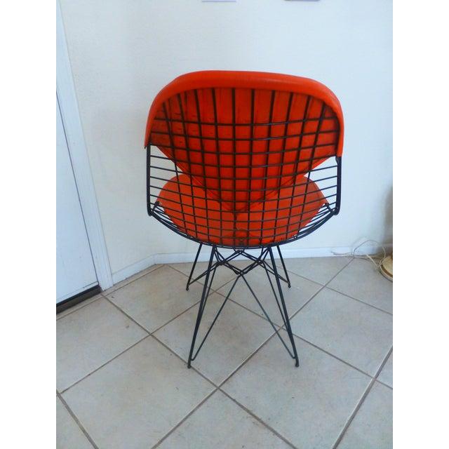 Mid-Century Modern Mid-Century Eames Wire Orange Bikini Chair For Sale - Image 3 of 10