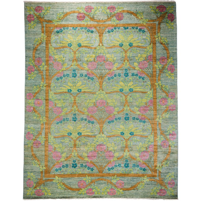 """Arts & Crafts Hand-Knotted Rug - 9'1"""" x 11'7"""" - Image 1 of 3"""