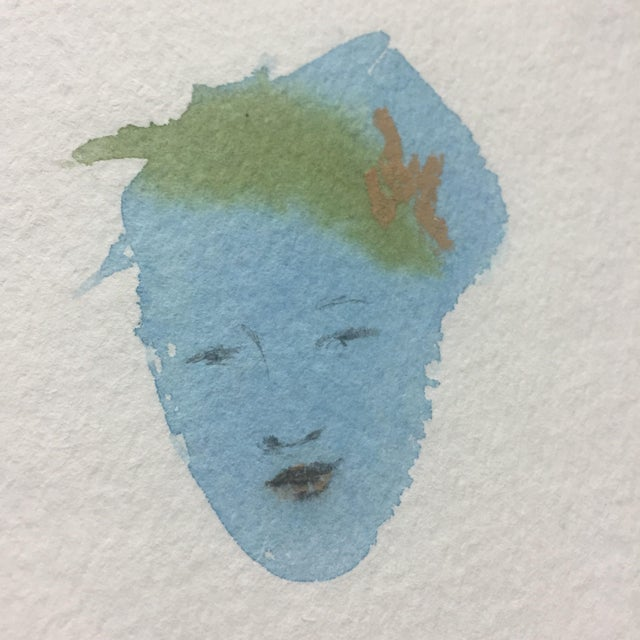 Flower Hair Portrait Painting - Image 3 of 4