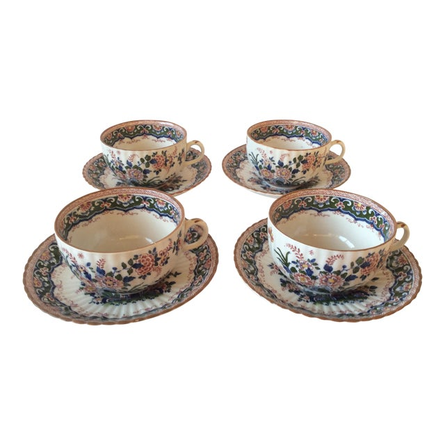 """Booths """"Old Dutch"""" Cup & Saucers - Set of 4 - Image 1 of 11"""