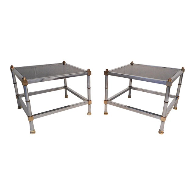Pair of Hollywood Regency Side Tables For Sale
