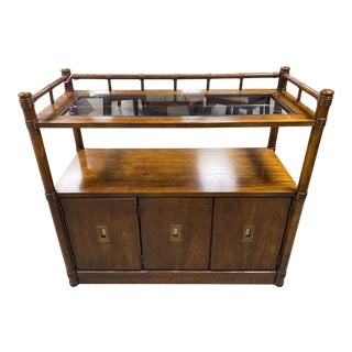 Stanley Furniture Mid Century Modern Buffet Unit For Sale