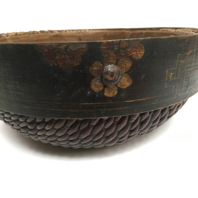 Hand Woven African Folk Art Basket - Image 6 of 10