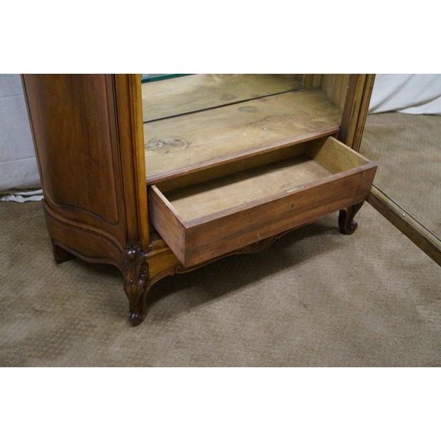 Antique 19th Century Louis XV Walnut Curio Cabinet - Image 10 of 10