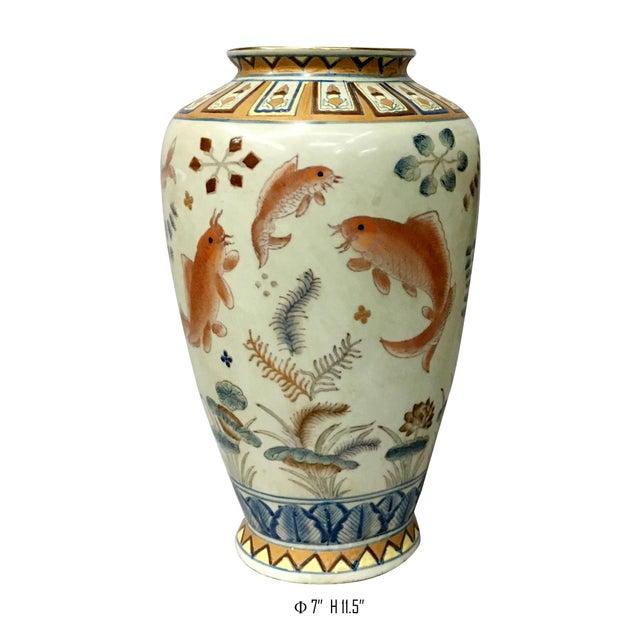 1980s Gold Fish Design Vase For Sale - Image 5 of 6