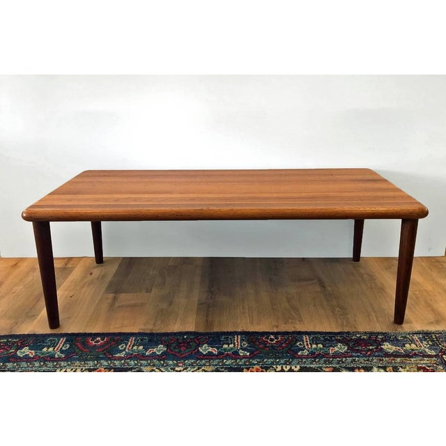 Wood MCM Danish Glostrup Mobelfabric Solid Teak Cocktail Table For Sale - Image 7 of 7