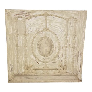 Antique White Washed Fragment Panel For Sale
