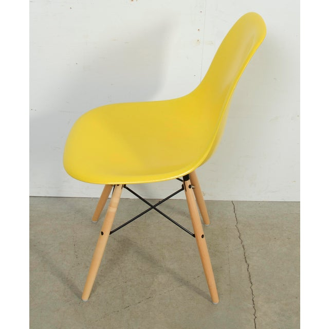 Herman Miller Eames for Herman Miller Yellow Fiberglass Chair For Sale - Image 4 of 9