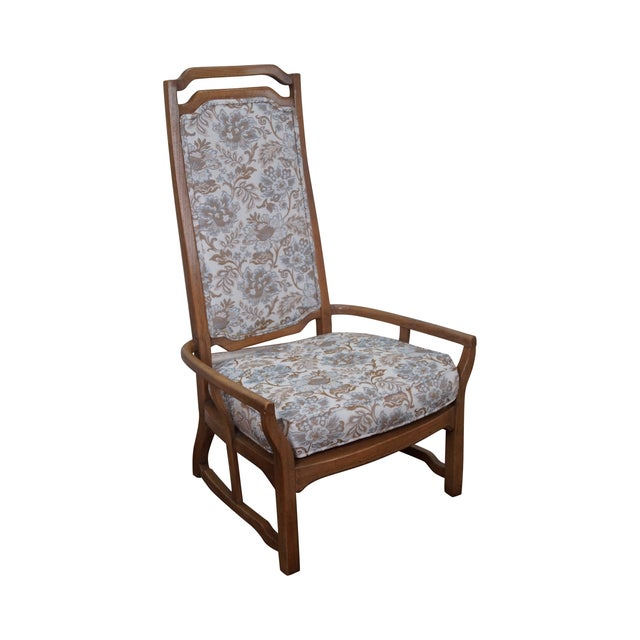Mid Century Modern Walnut Upholstered Arm Chair - Image 1 of 10