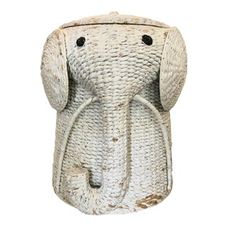 XL Elephant Basket With Lid For Sale