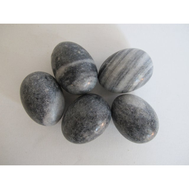 Decorative Gray Marble Eggs - Set of 5 - Image 4 of 6