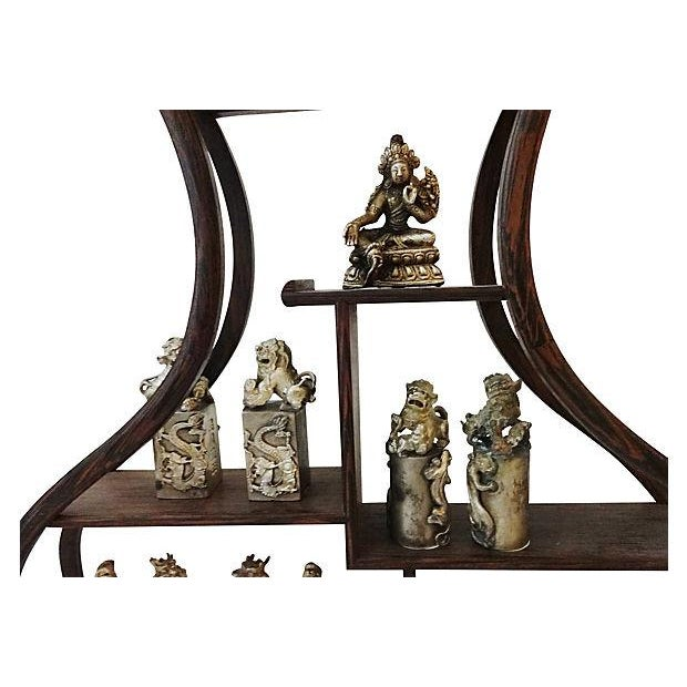 10-Piece Miniature Wood Stand & Decor Set - Image 3 of 7