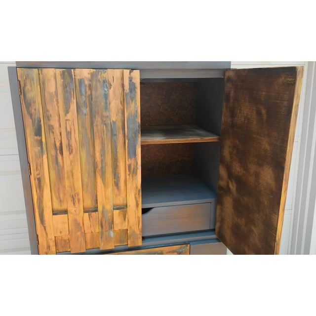 Mid-Century Modern Lane Brutalist Tall Dresser For Sale - Image 5 of 10