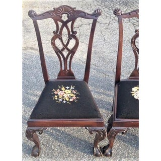 Early 20th Century Vintage Mahogany Chippendale Style Chairs- Set of 4 Preview