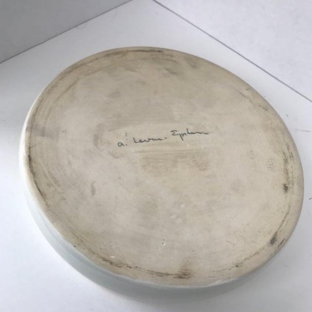 Ceramic Mid Century Modern Off White Lidded Vessel For Sale - Image 7 of 8