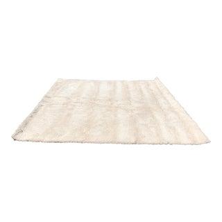 Ivory Shag Area Rug - 11′ × 11′ For Sale