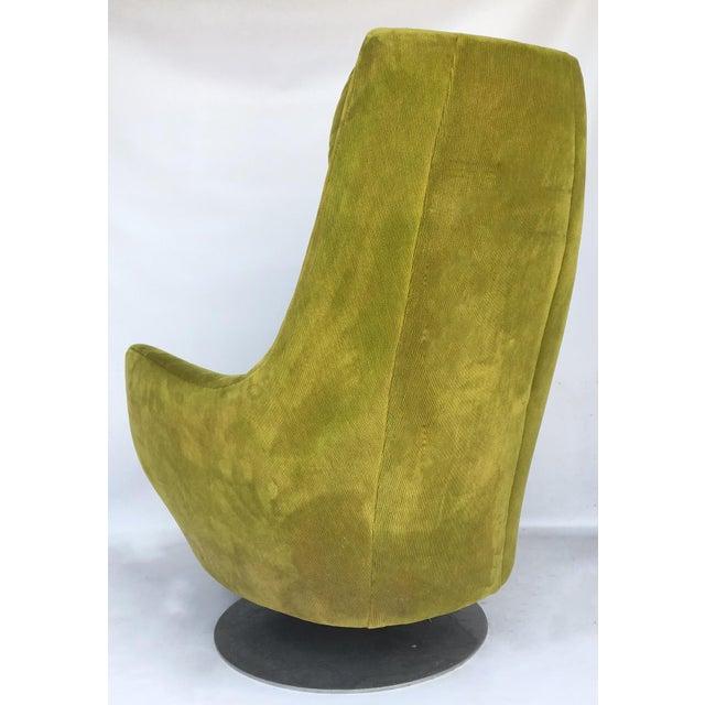 Milo Baughman Thayer Coggin Plush Mod Swivel Lounge Chair - Image 4 of 7