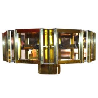 1970s Fredrick Ramond Hexagonal Chandelier For Sale