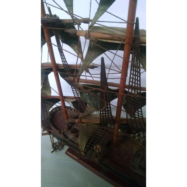 Vintage Tall Ship Model - Image 6 of 7