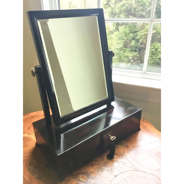 Brown Asian Modern Rosewood Lacquer Dressing Table Mirror For Sale - Image 8 of 13