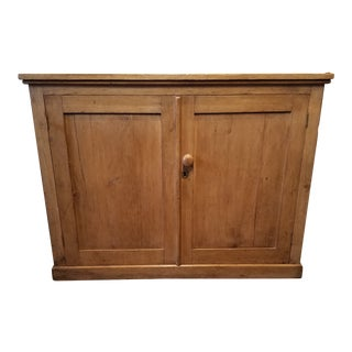 Late 19th Century Antique Pine Somerset England Cupboard For Sale