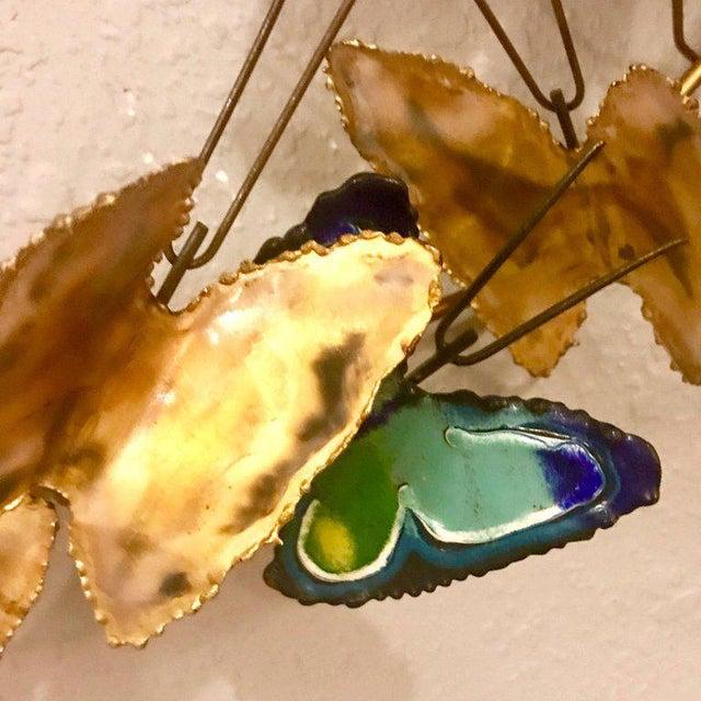 1967 Curtis Jere Butterfly Brass Wall Sculpture | Chairish