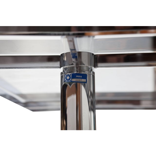 Mid-Century Modern Tobia Scarpa Large Square Chrome Dining Table for Knoll Model André For Sale - Image 3 of 8