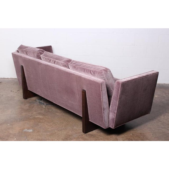 Purple Split Arm Sofa by Edward Wormley for Dunbar For Sale - Image 8 of 10