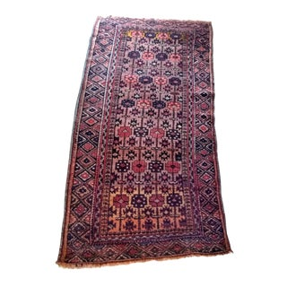 Vintage Mid-Century Moroccan Runner Rug - 3′ × 6′4″ For Sale
