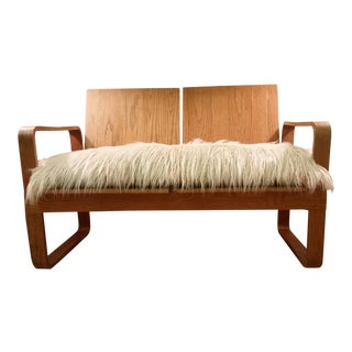 Mid-Century Thonet Bentwood Cube Settee For Sale