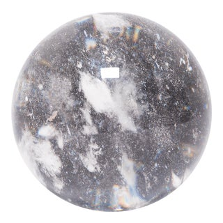 "6.5"" Rock Crystal Sphere For Sale"