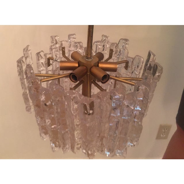 Mid-Century Modern Vintage Kalmar Ice Block Chandelier For Sale - Image 3 of 6