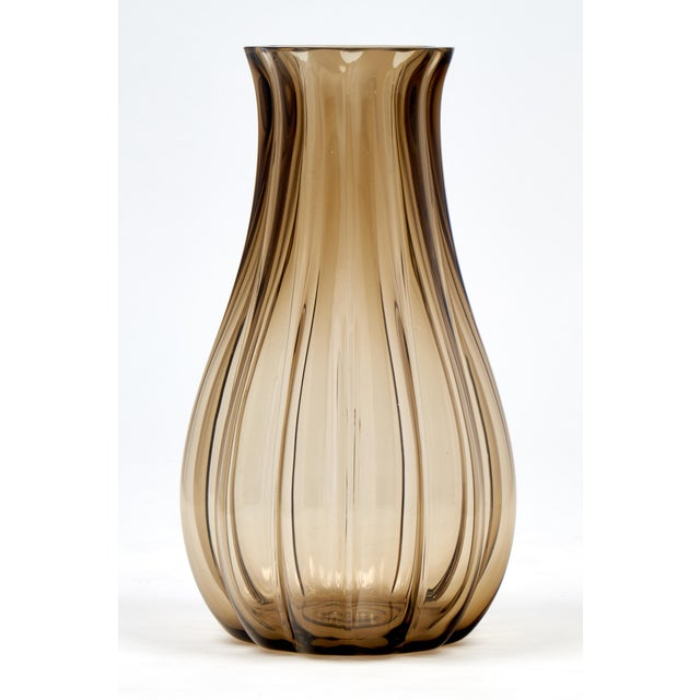 Italian Large Murano Smoked Glass Vase For Sale - Image 3 of 10
