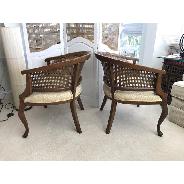 Barrel Cane Work Chairs - A Pair For Sale - Image 6 of 11