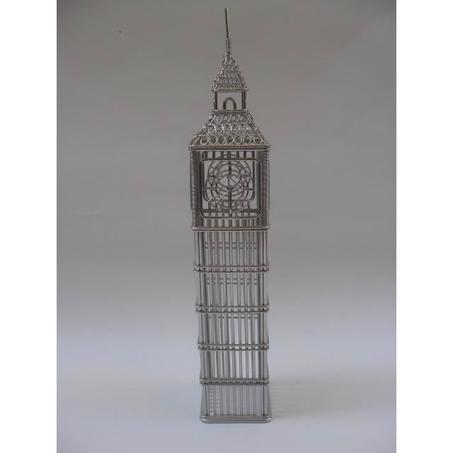 London's iconic Big Ben clock tower in the form of a wire model is modern, airy and timeless and ready to be yours. Cheerio!