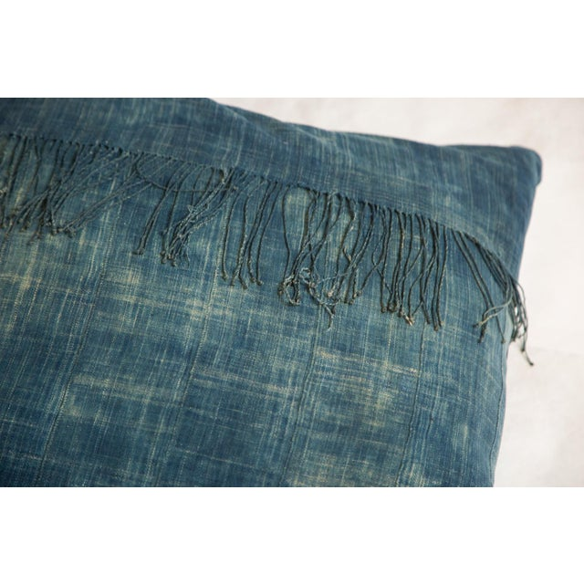 Contemporary African Indigo Floor Pillow For Sale - Image 3 of 4