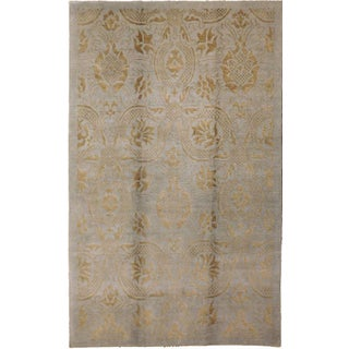 """Transitional Hand-Knotted Rug - 5'1""""x 7'9"""" For Sale"""