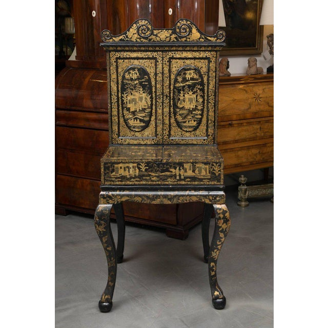 19th Century English Queen Anne Chinoiserie Chest on Stand - Image 9 of 10