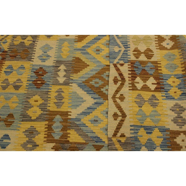Rustic Southwestern Dustin Gray/Blue Hand-Woven Kilim Wool Rug -5'11 X 8'2 For Sale In New York - Image 6 of 8