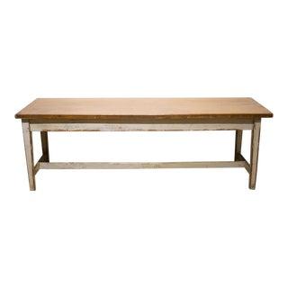 Large Oak Farmhouse Table, Circa 1890-1910 For Sale