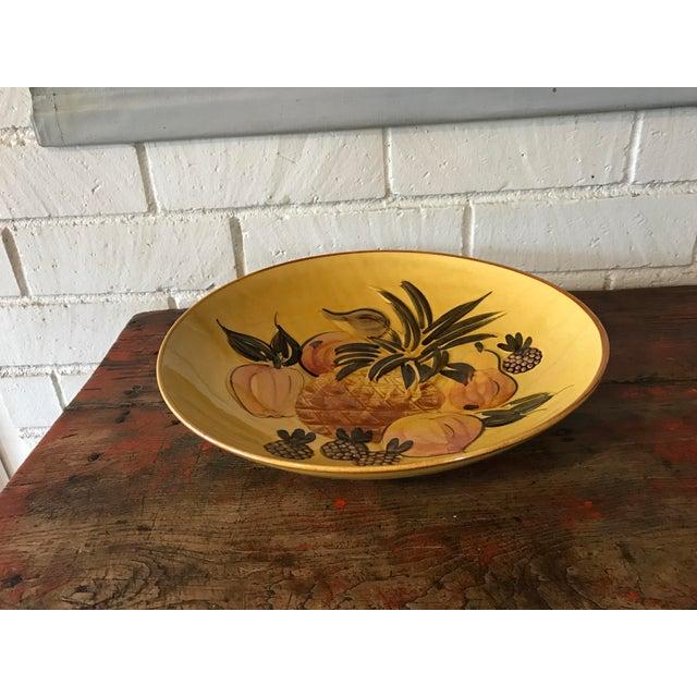 Vintage Pottery Large Shallow Fruit Bowl - Image 3 of 10