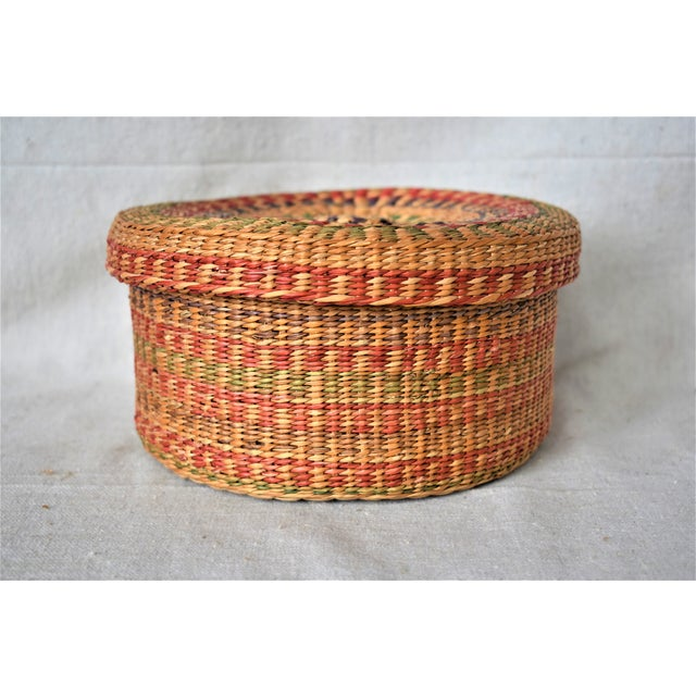 Vintage colorful basket to store small items or display as part of a collection. This is a pre-owned item so please see...