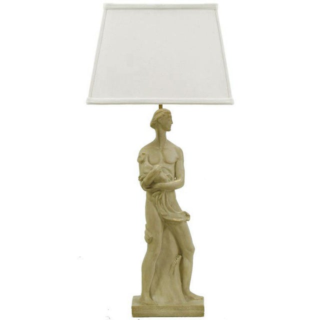 Egyptian Figure Table Lamp by Chapman For Sale - Image 11 of 11