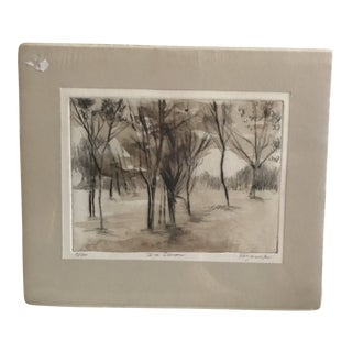 """Ice Storm"" Signed Limited Edition Etching by Frank Kaczmarek For Sale"